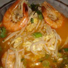 金针鲜虾汤