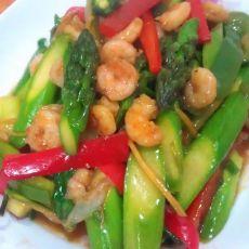 鲜芦笋炒虾仁