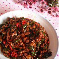 双椒牛肉粒的做法