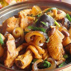 干锅鸡腿海参的做法