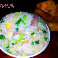 韭菜蒜苗蛋炒饭