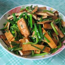 香干炒韭菜