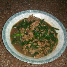 牛肉炒韭菜