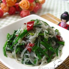 韭菜炒粉丝