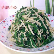 韭菜炒千张