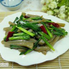 豉油韭菜炒魔芋