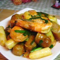 韩式海虾炒年糕