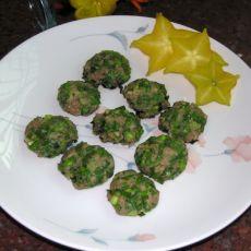 煎韭菜猪肉丸