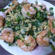 虾仁韭菜炒蛋的做法