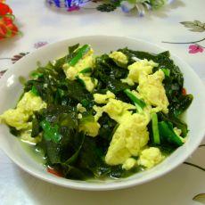 韭菜鸡蛋炒裙带