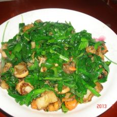 鸳鸯贝炒韭菜