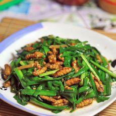 非常美食--韭菜炒蚕蛹