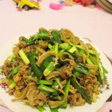 韭菜炒扇贝边
