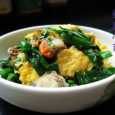 扇贝鸡蛋炒韭菜