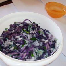 紫甘兰炒饭