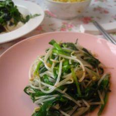 韭菜绿豆芽的做法