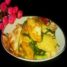 韭菜豆腐的做法