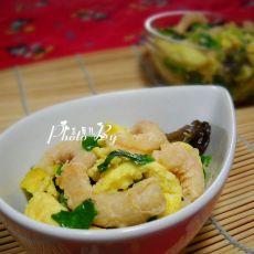 韭菜海米炒鸡蛋