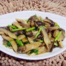 韭菜炒鲜蘑