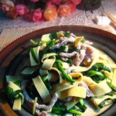 韭菜肉丝炒千张