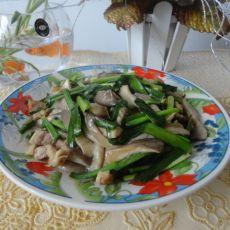 平菇炒韭菜