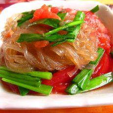 韭菜番茄炖粉条的做法