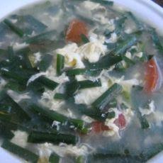 (原创首发)韭菜西红柿鸡蛋汤的做法