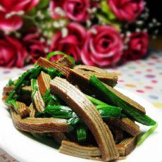 韭菜炒熏豆腐丝