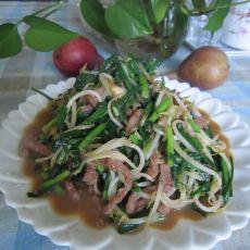 绿豆芽韭菜炒肉丝