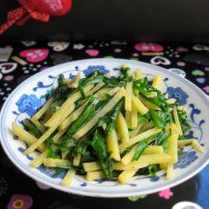 韭菜土豆丝