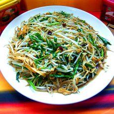 豆芽百叶辣炒韭菜