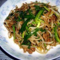 豆芽炒韭菜