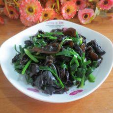 木耳炒韭菜的做法
