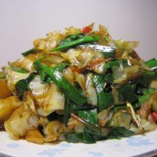 大头菜炒韭菜