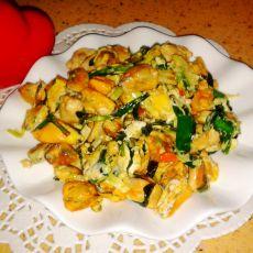 海红韭菜炒鸡蛋的做法