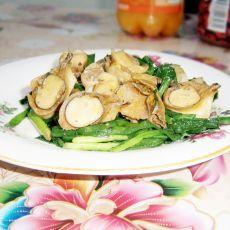 韭菜炒海螺