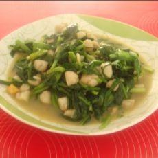 扇贝丁炒韭菜