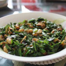 韭菜炒白米虾