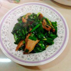 韭菜炒鸭肉