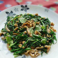 鸡丝炒韭菜
