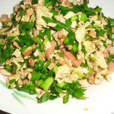 韭菜豆干的做法