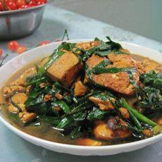 韭菜煎豆腐的做法