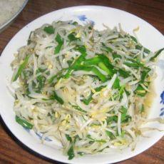 银芽韭菜的做法
