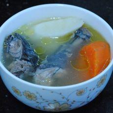 竹丝鸡煲淮山