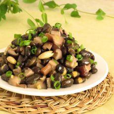 黑豆炒香菇