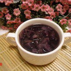 紫薯紫米粥
