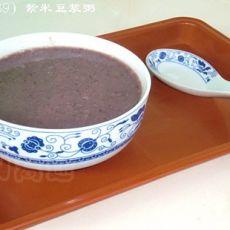 【原创首发】紫米豆浆粥