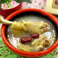 红枣花旗参鸡汤