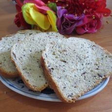 芝麻红枣甜面包----面包机版