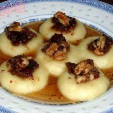 红枣核桃蜜汁土豆糕